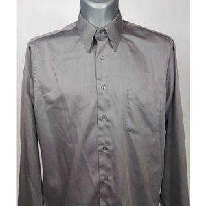 Arrow Gray Sateen Dress Shirt 16.5 - 36/37